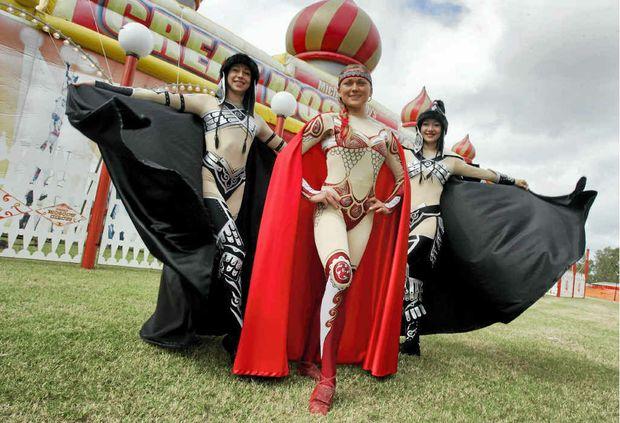 Russian performers Tatsiana Paltauskaya, Katya Martesivich and Oxana Belyaeva are ready to wow Great Moscow Circus audiences this week.