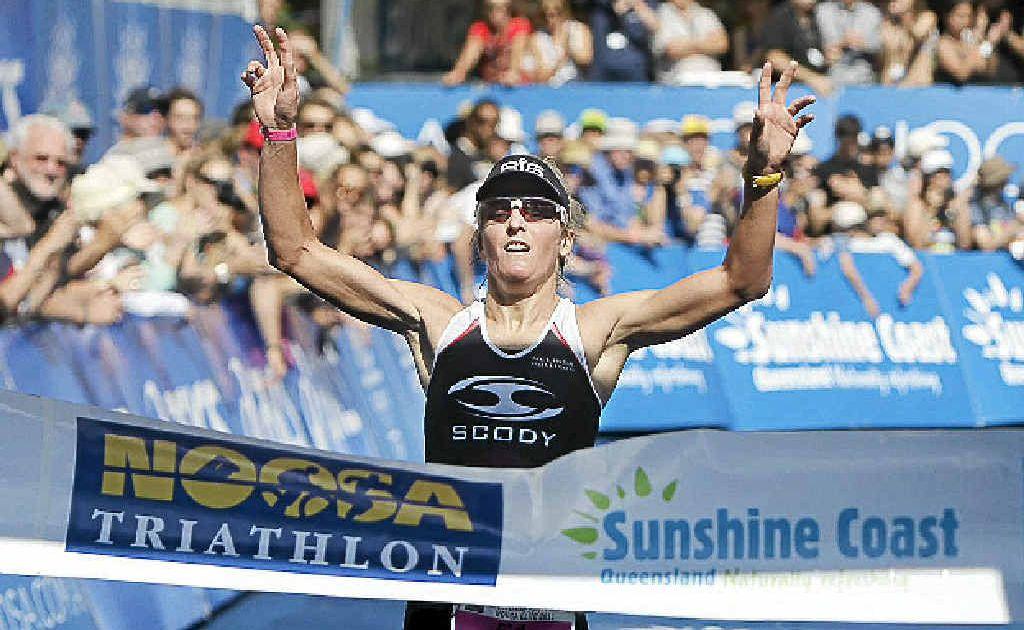 Brisbane athlete Melissa Rollison takes out last year's Noosa Triathlon.