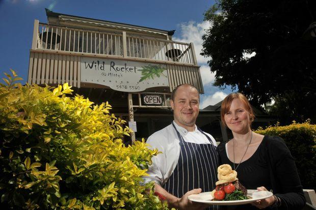 Peter and Belinda Brettell of Wild Rocket @ Misty's in Montville