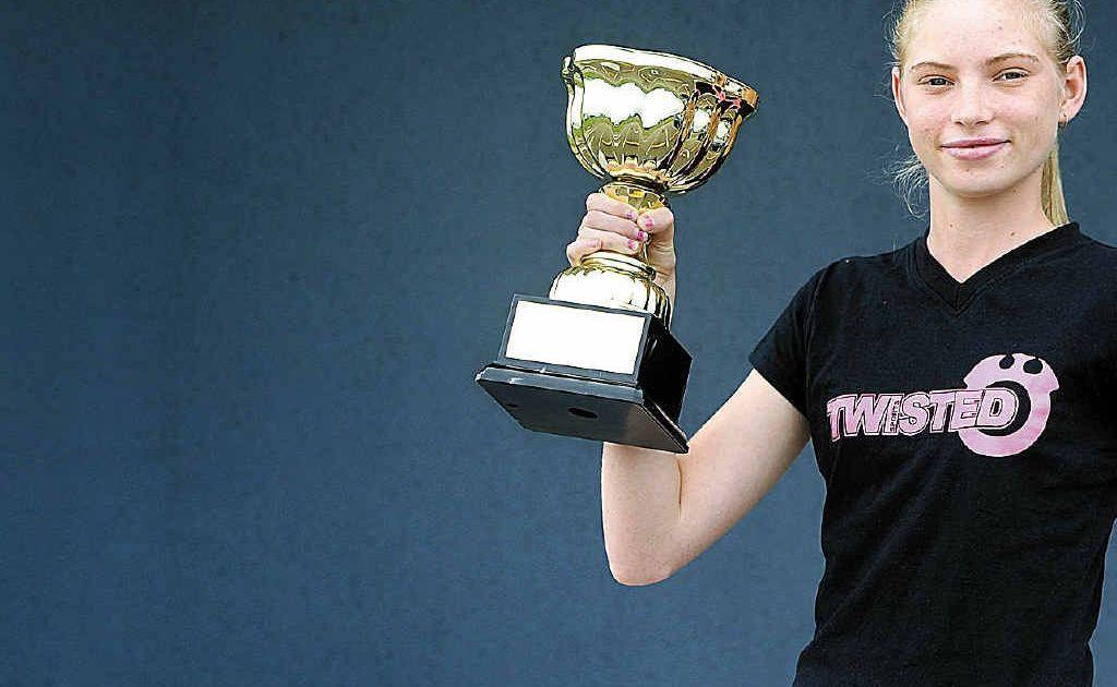 WMC Queensland pinweight titleholder Courtney Rainbow.