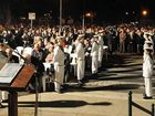 About 1500 members of the community attended yesterday's dawn service at which Gympie Mayor Ron Dyne said it was heartening to see so many people, especially young people.