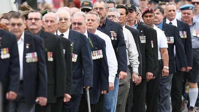 Veterans march through Goodna.