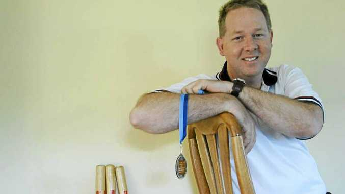 Mark Templeman, of Alstonville, is thrilled after winning the EF Wykes OAM Association Medal for cricket umpires.
