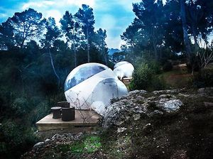 Bubble hotel in French forest
