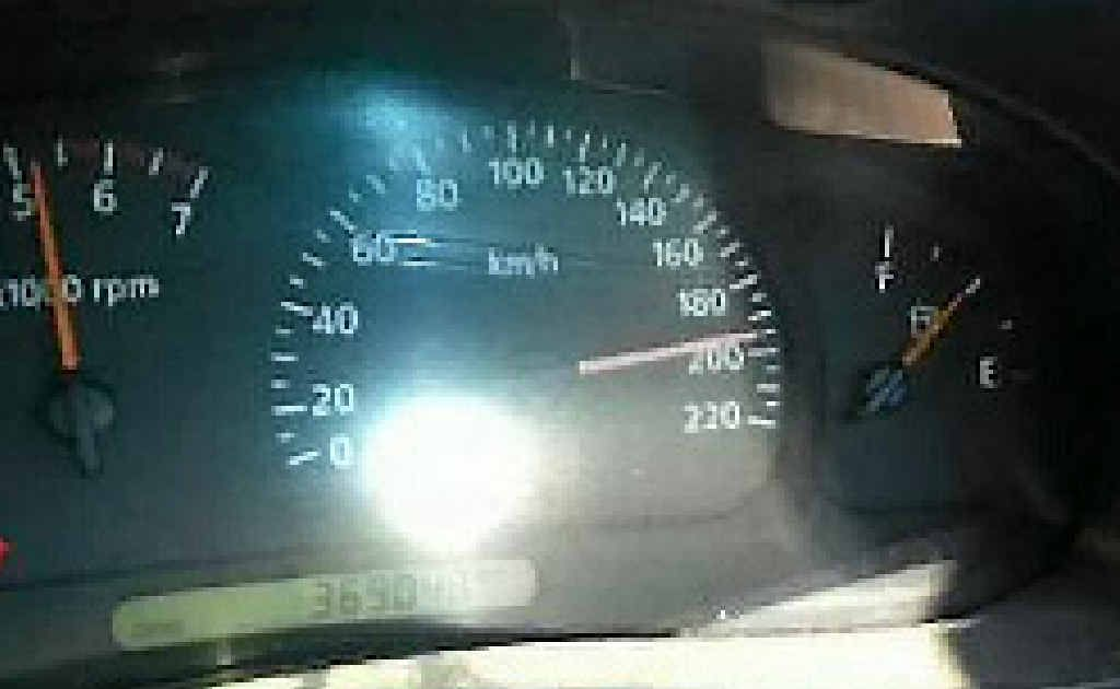 A Mackay apprentice posted this photo on his Facebook page calling the dangerous speed 'just having fun'.