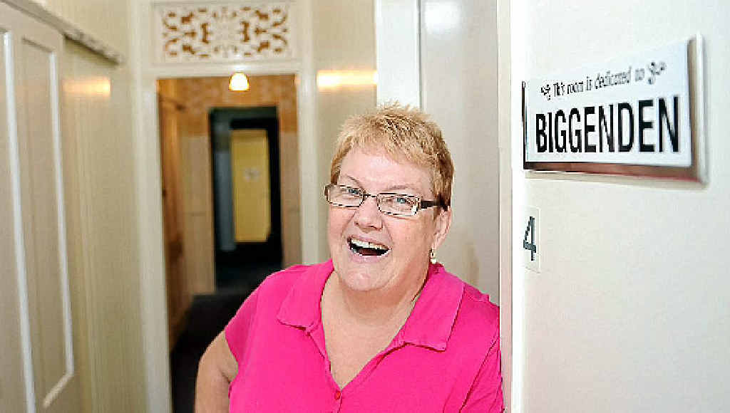 Kaylene Smith is one of the happy faces making Rotary Lodge a welcome place for visitors.