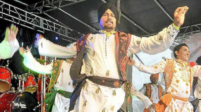 Local Indian dance group Sher Punjabi at the Woogoolga Curryfest.