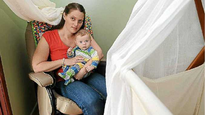 Nicola Bailey and her son Eamon, five months, of Goonellabah.