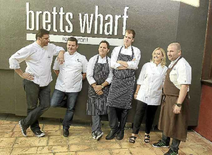 Plates for Mates chefs show their support.