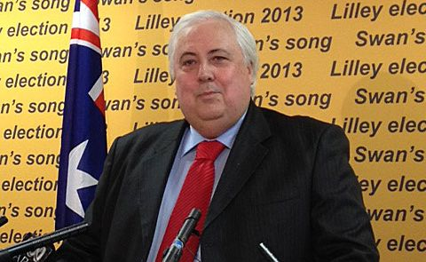 Clive Palmer has announced he will challenge Wayne Swan for his seat at the next federal election.