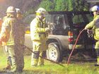 Maryborough firefighters rescued a woman on Saturday.