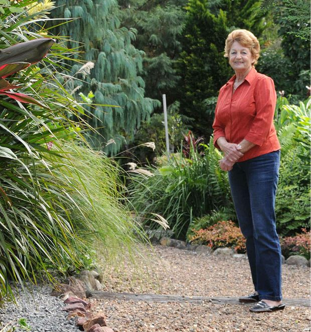GARDEN GEM: Gladys Gear, of Opal St, Southside, put hours into her garden to win the top gong.