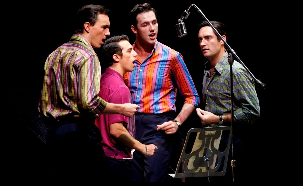 The Jersey Boys: Glaston Toft, Dion Bilios, Declan Egan and Anthony Harkin.