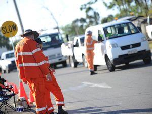 Tanker rollover closes road