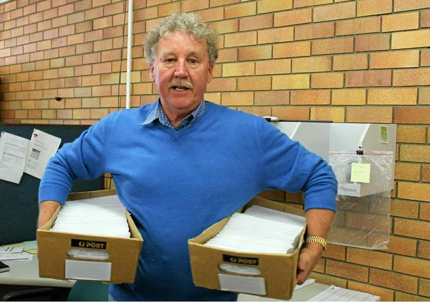 Garry Adcock is expecting a steady stream of postal votes to keep coming in over the next couple of days, from those who voted late last week. The informal vote is running at just over 2%.