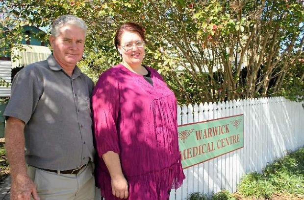 NEW NAME: Under new ownership of Errol and Barbara Austin, the Warwick Medical Centre is now the Peppertree Medical Centre.