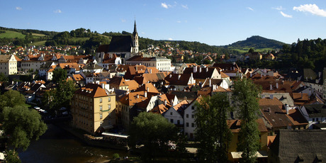 Brilliant once more: It's hard to fathom why the Communists painted Cesky Krumlov entirely grey. Photo / Creative Commons image by Wikimedia user Avala