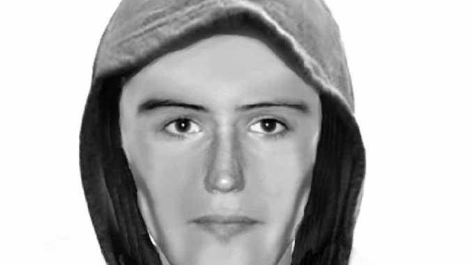 The image of the man police seek in relation to robberies of pizza deliverers.