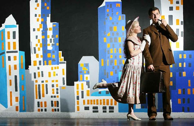 Elizabeth Bartetyzko and John Massey play the roles of Dorothy Brown and Trevor Graydon in the Ipswich Girls and Ipswich Grammar production of Thoroughly Modern Millie.