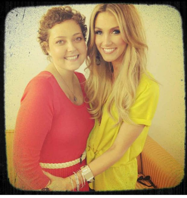 Amy Clough got to meet her idol, Delta Goodrem.