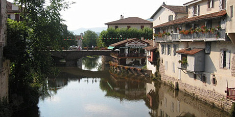 El Camino de Santiago begins in the pretty French border town of St-Jean Pied-de-Port (pictured) and runs 775 kilometres to Santiago De Compostella in the north-west of Spain. Photo / Creative Commons image by Wikimedia user Harrieta171