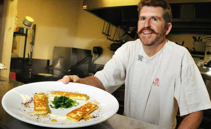 Gympie chef Michael Hehir with some of the tapas that scored his restaurant a spot in the Queensland Good Food Guide.