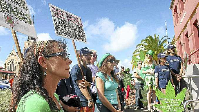 Protesting for change of cannabis laws is more effective continued offences according to a magistrate.