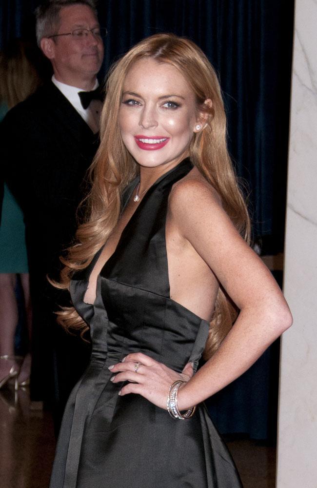 Lindsay Lohan at the White House Correspondents' Association dinner.