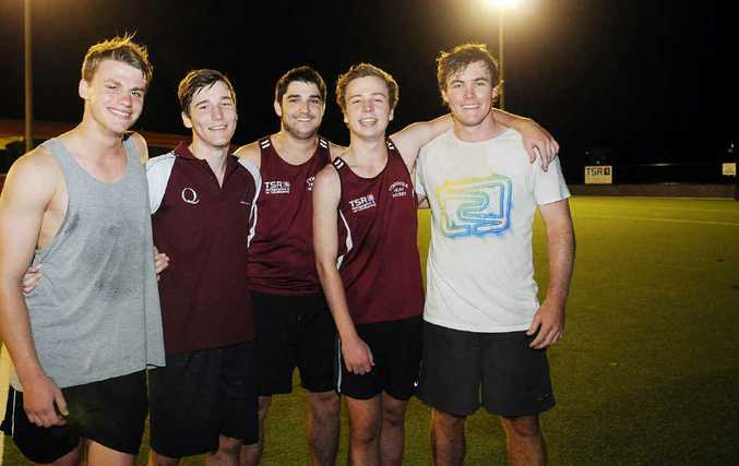The Gympie men's hockey side is heading to the state championships today in Brisbane with one of the strongest line-ups ever. Pictured (from left) are Joey Collins, Drew Wenzel, Mitchell Kuether, Jordon Warhurst and Daniel Naismith.