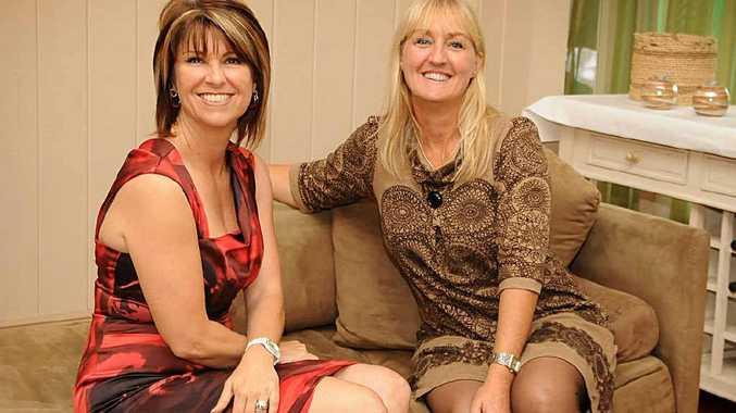 Bali survivor Carren Smith with lunch organiser Natalie McIvor at Kingston House yesterday.