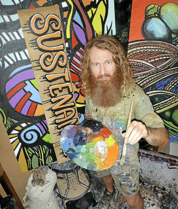 PASSION: Artist Darren Trebilco is back in the groove after taking time out.