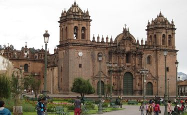 Plaza de Armas forms the heart of the Peruvian city of Cusco.