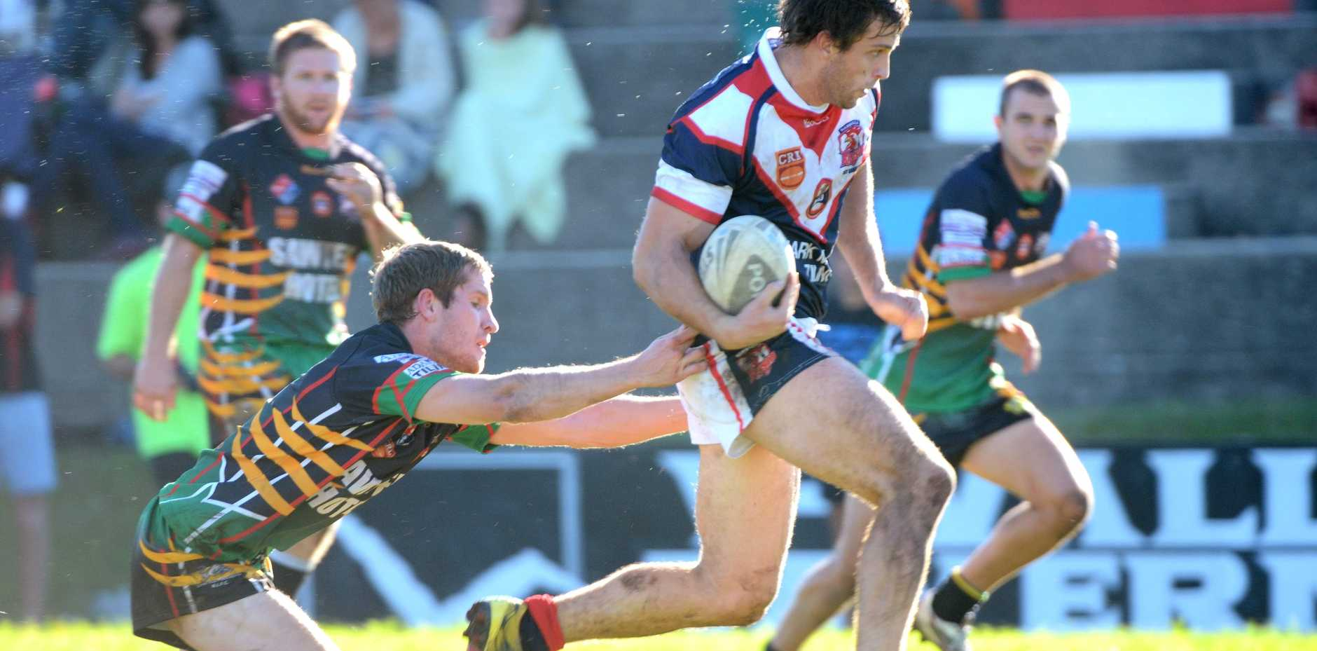 Mitch Picker was a handful all day terrorising the Sawtell defense.