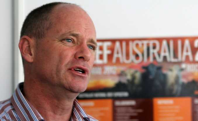 The Queensland Premier Campbell Newman at The Australian Beef Expo 2012