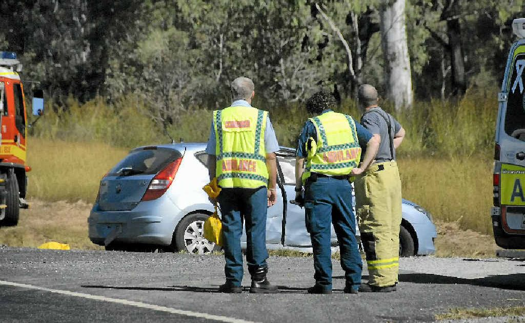 Emergency services on the scene of a fatal traffic accident.