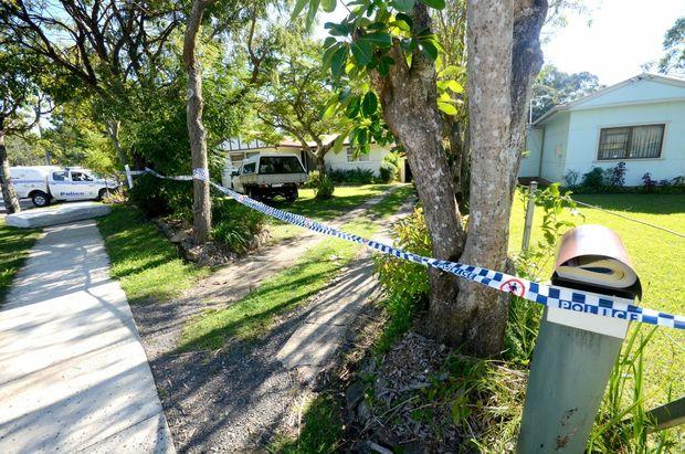 The crime scene on Toormina Road. Photo: Leigh Jensen / Coffs Coast Advocate