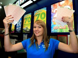Residents try luck at $70m lotto