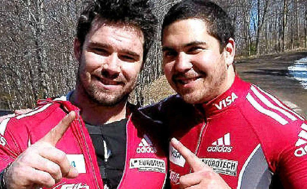 Chris Spring with teammate Tim Randall.