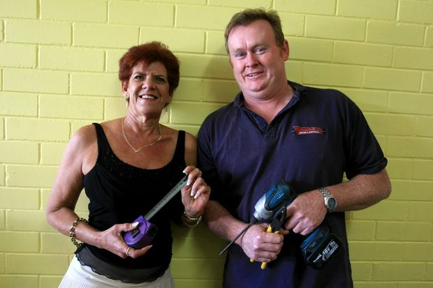 Karen Cranwell and Bill Larkin preparing Cabarita Youth Service's new premises.