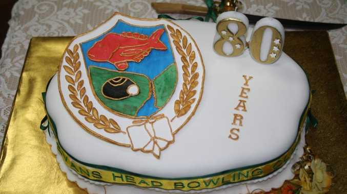 BIRTHDAY CAKE: The Evans Head Bowling Club's 80th birthday cake. Photo contributed.
