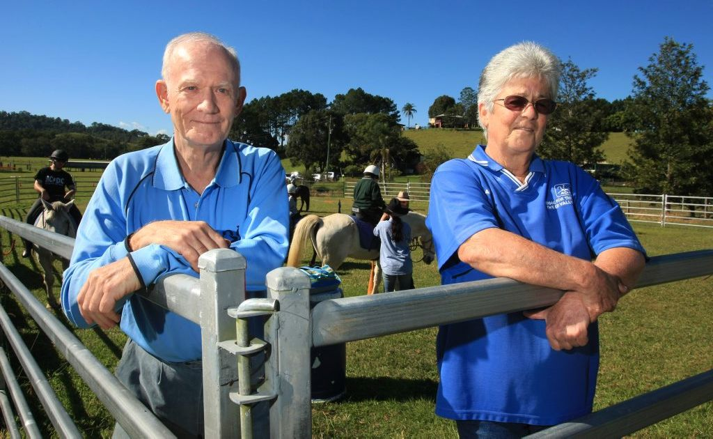 RDA volunteers of 20 years Tony Compton and Anne Caine.