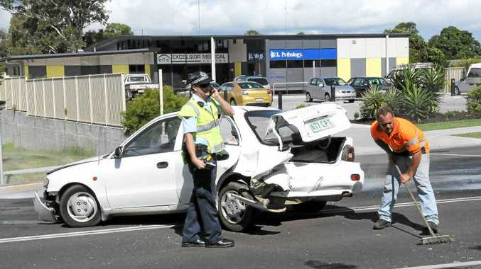 A four-car smash happened outside the Excelsior Medical Centre on Exhibition Rd last month.