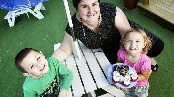 Mum Michelle Kozlowski at a special Mother's Day afternoon tea with her children.