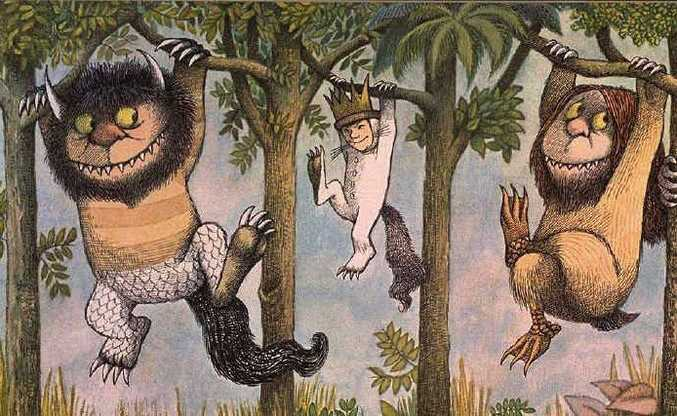 Characters from Where the Wild Things Are, some of which resemble Maurice Sendak's relatives from childhood.
