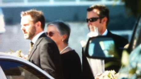 Gerard Baden-Clay attending the funeral of his slain wife Allison