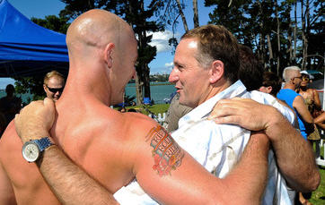 Neq Zealand Prime Minister at the Big Gay Out festival