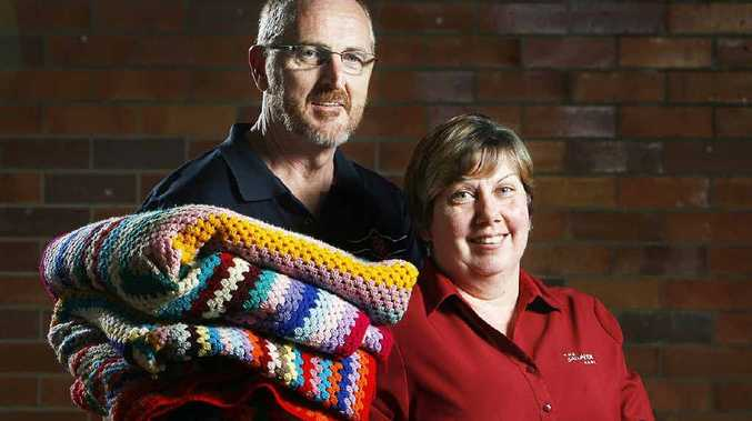Captains Greg and Lenore Pack are asking the Ipswich public to donate blankets and goods as part of the Salvation Army's Red Shield appeal.