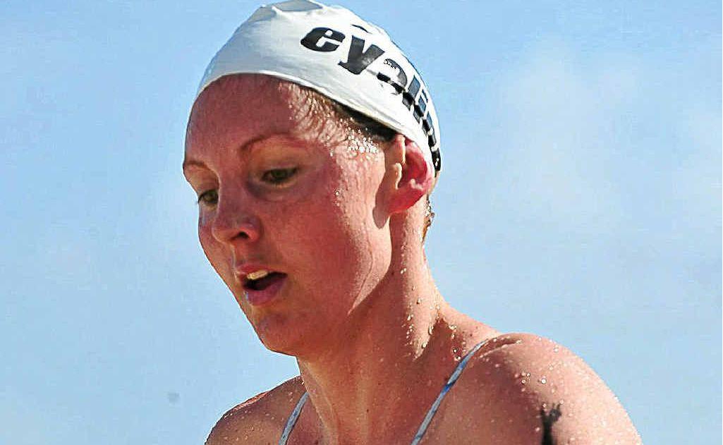 Melissa Gorman on her way to winning the 2km swim at Noosa last year. Gorman will be return for the Evans Head ocean swim next month.