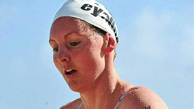 Melissa Gorman on her way to winning the 2km swim at Noosa last year. Gorman will be return for the Evans Head ocean swim next month.