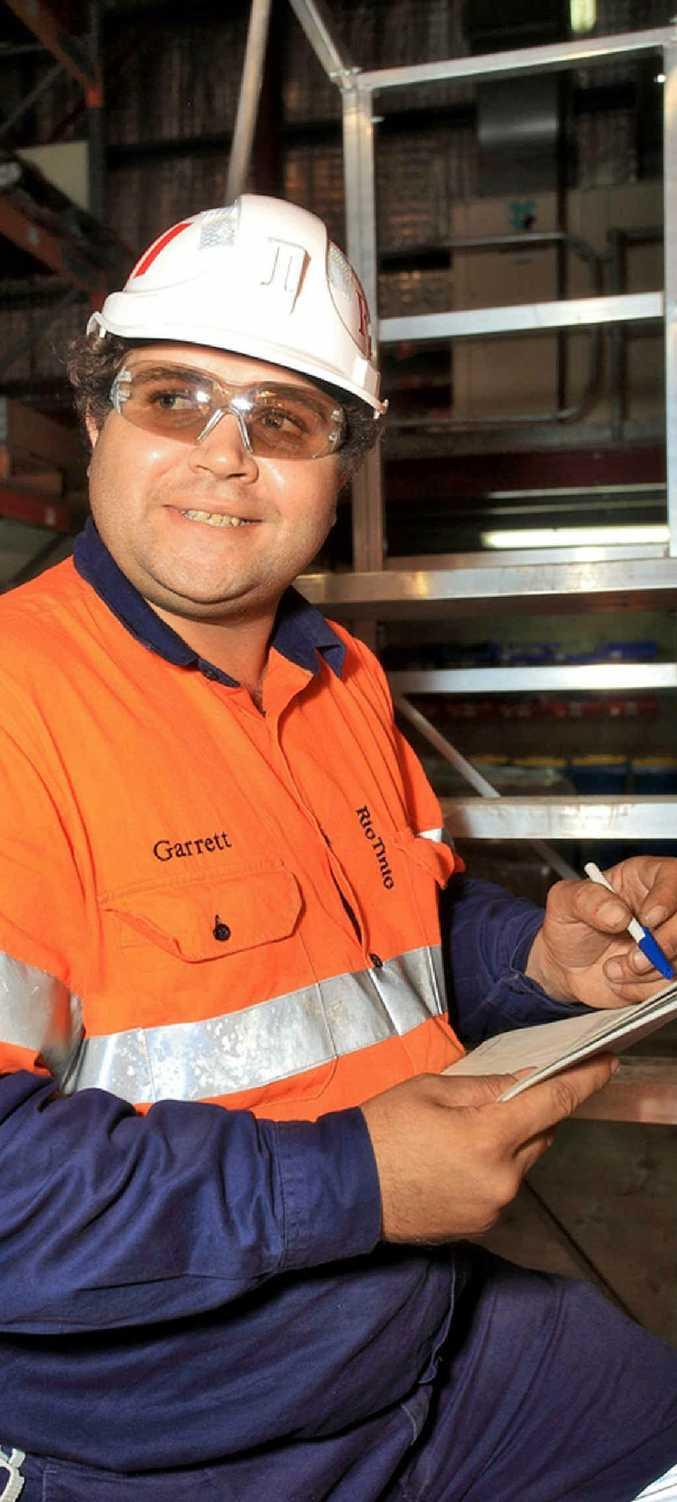 New Kestrel Mine worker Garrett Malone.